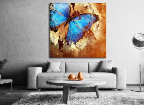Fjäril - Canvastavla