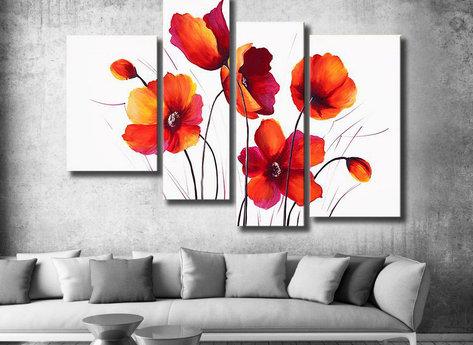 Blommor Röd vallmo äng
