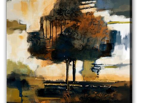Abstrakt Oljemålning - Madrid