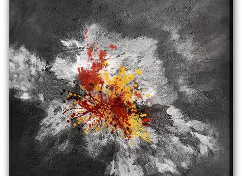 Abstrakt Tavla - Magma