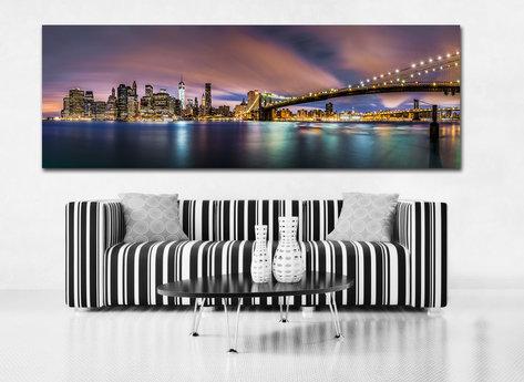 Canvastavla på nätet - Manhattan Bridge