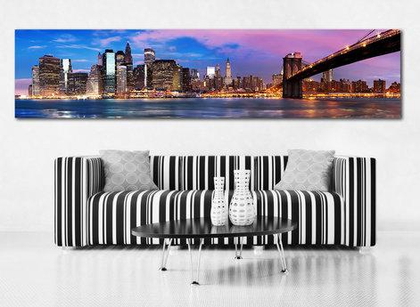 Canvastavla - Panorama Manhattan