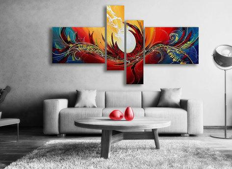 Abstrakt Oljemålning Angel Fire