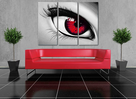 Abstrakt Oljemålning The Eye