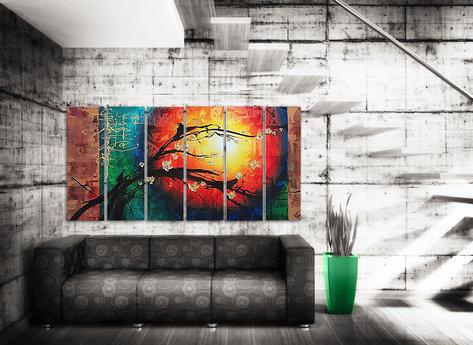 Stor Abstrakt tavla Sunrise