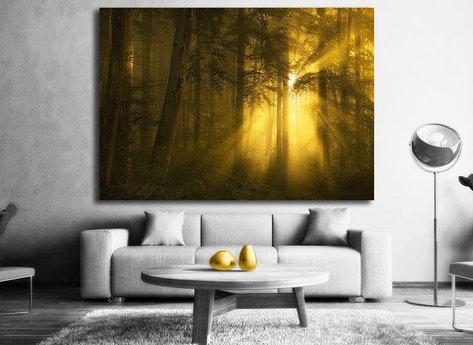 Gyllene skogen Tavla