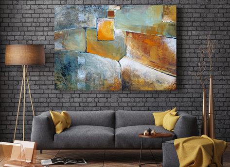 Abstrakt oljemålning - Kastanj