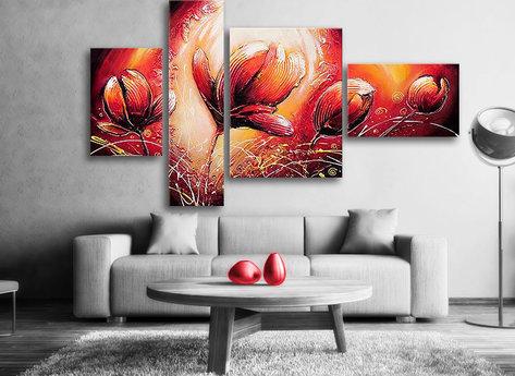 Abstrakt Oljemålning Tulip