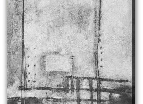 Abstrakt Tavla - Svart & Vitt