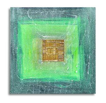 Abstrakt Oljemålning - Grön