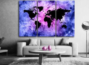 Tavla av världskartan i delar