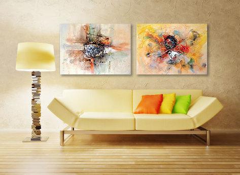 Abstrakt Oljemålning Mount Isa