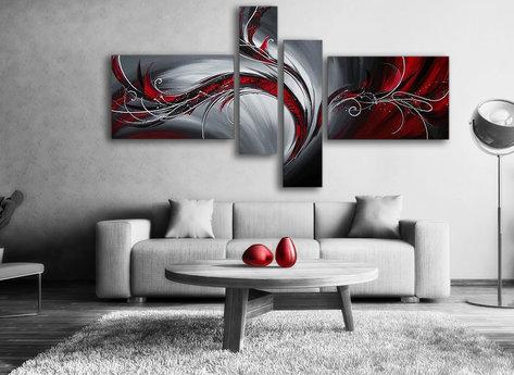 Abstrakt Oljemålning Red Phoenix