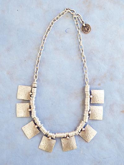 Necklace in zinc, Daylight big