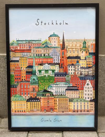 """Affisch """"Stockholm/Gamla stan"""" 50x70 cm"""