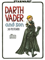 Book/postcards Darth Vader and son