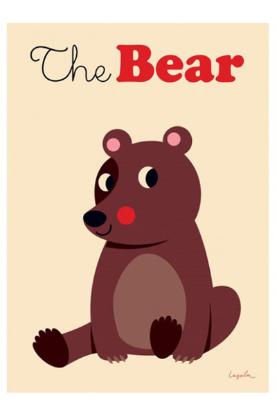 """Poster Ingela P Arrhenius """"The bear"""" 50x70 cm"""
