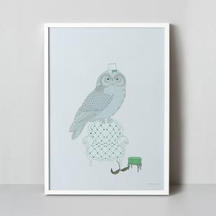 OWL 50x70 cm
