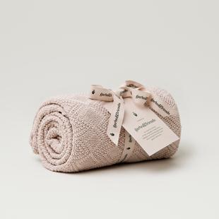 Ollie Pink Cotton Blanket