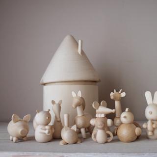Wooden Animal Family