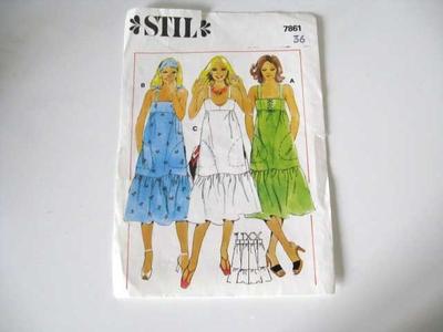 Klänningsmönster 3 modeller STIL