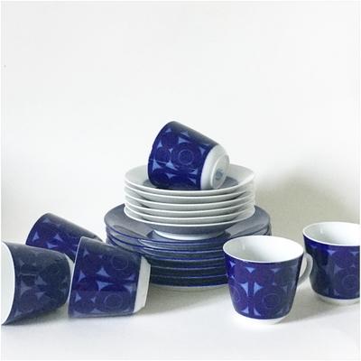 """Kaffekoppar med fat och assiette """"AGDA"""" Rörstrand Christin Campbell"""