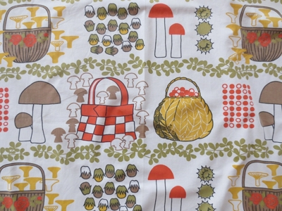 "Tyglängd Borås Wäferi design Birgilla Dahlström "" Svamputlykt"""