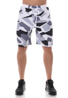 ICANIWILL Shorts Men - White/Grey Camo
