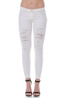 WR.UP® Denim Shaping Effect - Mid Waist Ripped - White(W)