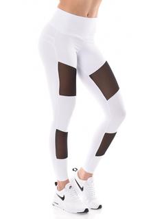 Brazilian Push-up legging - Mesh - White