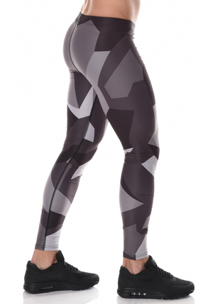 ICANIWILL Full Camo Tights Men - Dark
