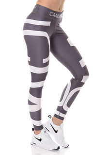 ICANIWILL ICIW Tights - Grey/White