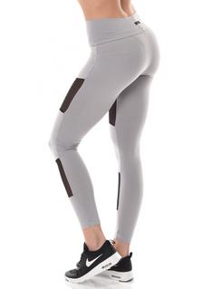 Brazilian Push-up legging - Mesh - Platinum Grey