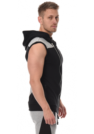 Yurei Sleeveless Hoodie - Black/Grey
