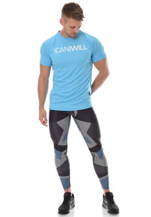 ICANIWILL Diffuze Camo Tights Men - Blue