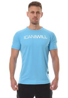 ICANIWILL Mesh T-Shirt Men - Blue