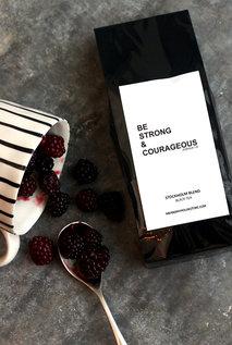 Svart te med Stockholm blend-smak: Be strong & Courageous