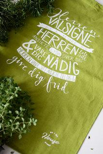 Grön kökshandduk: Välsignelsen