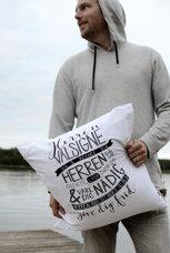 Vitt kuddfodral av Öko-tex-bomull: Välsignelsen