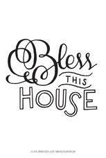 Stor poster av Fia Lotta Jansson Design: Bless this House