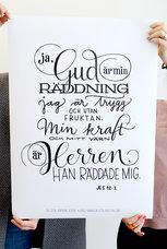Stor poster av Fia Lotta Jansson Design: Gud är min räddning