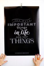 Stor poster av Fia Lotta Jansson Design: The most important things in life