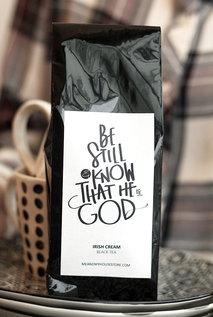 Svart te med Irish Cream-smak: Be still and know