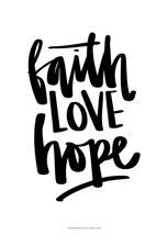 A3-poster: Faith LOVE hope