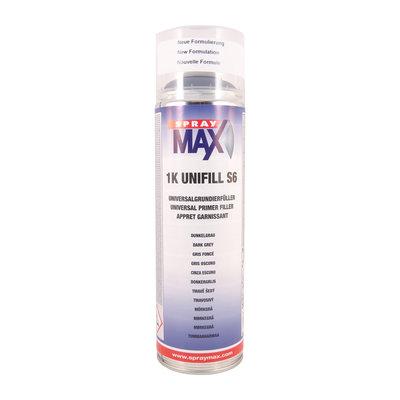 SprayMax 1K Unifill S6 Mörkgrå 500 ml