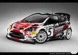 Ford Fiesta WRC Ingemar Svensson Byggsats  (Målad kaross)