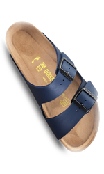 Birkenstock Arizona Sandal Mjuk Blå Normal