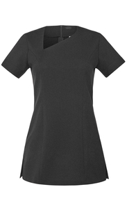 Simon Jersey Scoop Neck V-Hals Tunika Black
