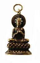 Buddha Hänge i Brons med Halo