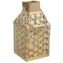 Atmospheric lighting 'Flower of life' - antique style golden metal